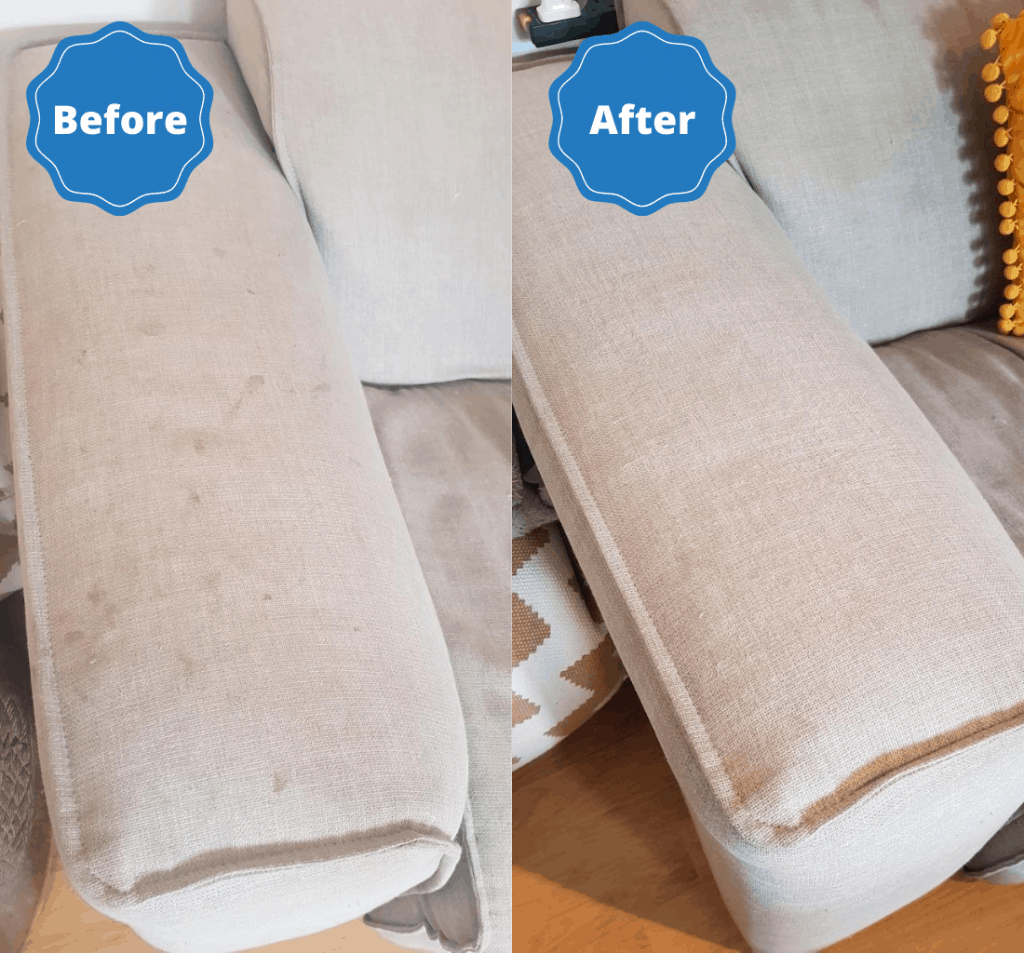 professional sofa cleaning by house proud finish